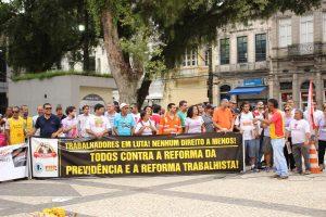 15M: o dia em que multidões saíram às ruas contra a PEC da Previdência, em Santos