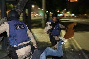 Guarda quebra perna de professora com chute no ato contra PEC 287 no Rio