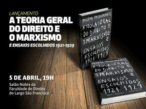 Livro sobre teoria do direito e marxismo será lançado nesta quarta, 5