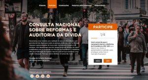 Entidades lançam consulta nacional sobre reformas e auditoria da dívida