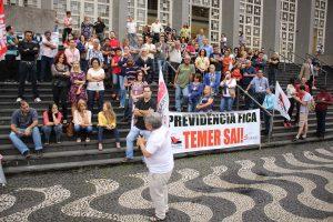 27/04/17 – Ato contra a Reforma da Previdência na Baixada Santista