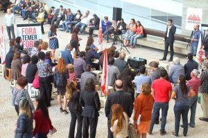 11/07/17 – Ato em defesa dos direitos trabalhistas no Fórum Ruy Barbosa