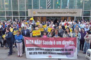01/08/17 – Assembleia no TRF-3 contra o reajuste do plano de saúde