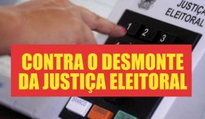 Em defesa do serviço público, servidores da Eleitoral fazem ato nesta 4ª