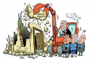 Tribunais aplicam a política de desmonte do serviço público
