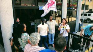 14/09/17 – Ato na Justiça do Trabalho de Santos