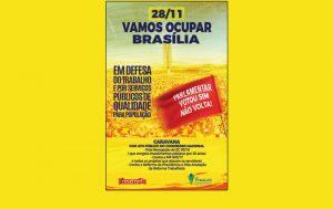 Sintrajud leva delegação para ato em Brasília contra ataques de Temer