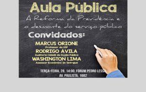 28 de novembro é dia de parar em defesa do serviço público