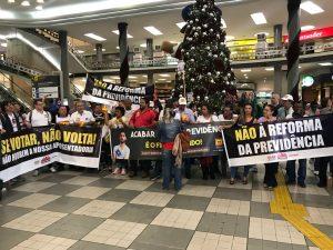 Sintrajud e outros sindicatos pressionam deputados com ato em Congonhas