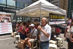 Protesto contra a PEC 287 marca dia dos aposentados em São Paulo