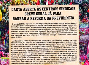 Sindicatos exigem que centrais convoquem nova greve geral contra a PEC 287