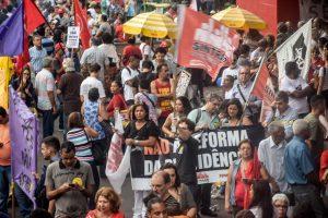19/02/18 – Ato contra a Reforma da Previdência na av. Paulista