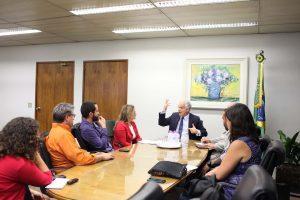 13/03/18 – Reunião com presidente do TRT – Plano de Saúde