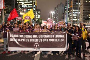 8M: Mulheres foram às ruas contra violência machista e em defesa da aposentadoria