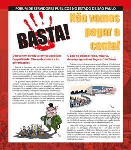 Servidores preparam 'Dia do Basta' em São Paulo