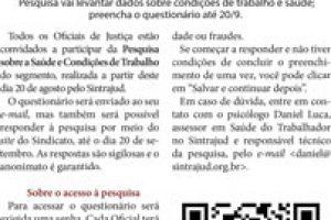 21/08/18 – Boletim do Judiciário – Oficiais de Justiça