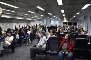 24/10/18 – Assembleia setorial no auditório do TRF-3, plano de saúde