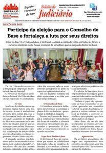 08/10/18 – Boletim do Judiciário – Especial Diretoria de Base – edição 204
