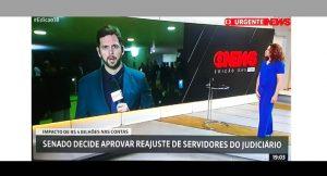 Sintrajud e Fenajufe cobram GloboNews por informação errada sobre reajuste