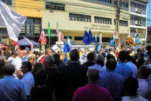 21/01/19 – Ato em defesa da Justiça Trabalhista – Santos