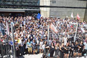 21/01/19 – Ato em defesa da Justiça Trabalhista, no Fórum Ruy Barbosa