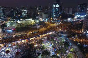 Servidores participaram dos atos na capital e na Baixada em defesa da educação pública