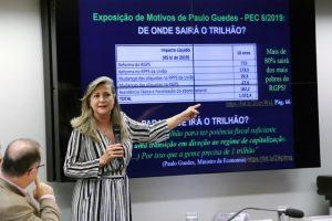 Auditora fiscal explica farsa do déficit da Previdência em debate no dia 8/6