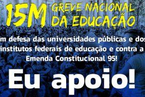 Atos nesta quarta (15) devem mobilizar centenas de cidades pela educação e Previdência públicas