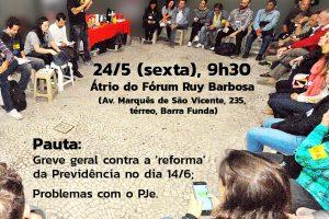 24 de maio – Café da manhã no Fórum Ruy Barbosa