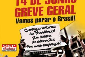14 de junho – GREVE GERAL