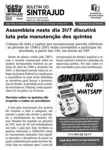 30/07/19 – Boletim do Sintrajud – Edição 216