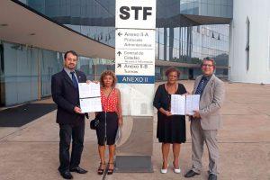 22/08/19 – Protocolo dos abaixo-assinados pelos quintos nos gabinetes do STF