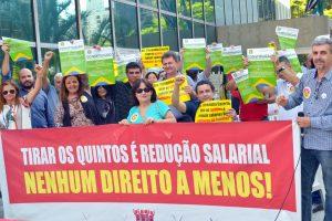 10/10/19 – Ato contra a redução salarial, no TRF-3