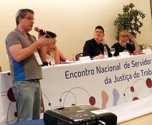 Sintrajud defende luta contra modelo de metas do CNJ no encontro da JT