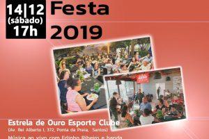 Convites para a festa em Santos estão disponíveis até este dia 11
