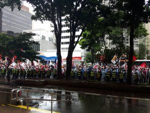 Sob chuva, SP tem primeiro ato em 2020 contra políticas do governo Bolsonaro