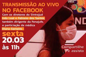 Médica tira dúvidas sobre o COVID-19 e dirigentes informam iniciativas em nova live nesta sexta