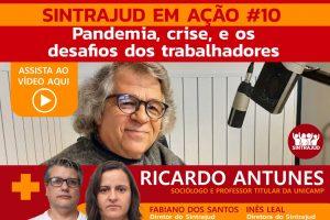 Assista aqui à transmissão ao vivo com o sociólogo Ricardo Antunes