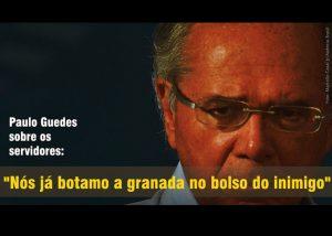Guedes resume o que Bolsonaro quer para o servidor: 'Botamo a granada no bolso do inimigo'