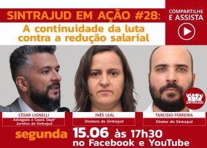 Live desta segunda às 17h30 debate luta contra redução salarial