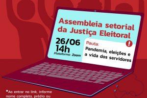 TRE: Setorial online nesta 6ª discute eleições municipais e expediente presencial