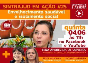 Especialista debate envelhecimento saudável e isolamento social em live nesta 5ª