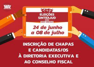 Iniciado o prazo de inscrição de chapas e candidaturas ao processo eleitoral do Sintrajud