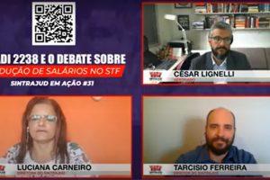 Vitória no STF e luta contra redução salarial foram temas da live do Sindicato