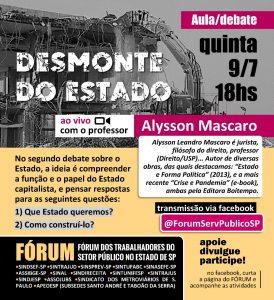 Jurista Alysson Mascaro participa de live do Fórum do setor público nesta 5ª às 18h