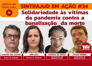 Assista à live sobre solidariedade e luta contra a banalização das mortes por Covid-19