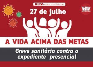 Atos no TRF, no TRE e na JF Santos marcam início da greve sanitária nesta segunda, 27