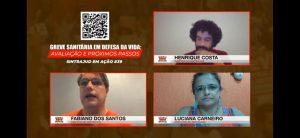 Live sobre a greve sanitária orientou servidores acerca de direitos e organização do movimento
