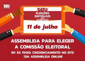 Assembleia online no dia 11 elege comissão eleitoral do Sintrajud