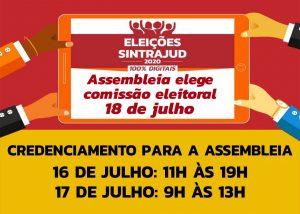 Confira as orientações para o credenciamento à assembleia de sábado, 18, e participe